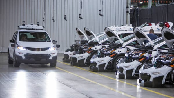 General Motors Cruise test vehicles