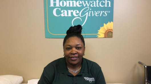Home health aides like Eneika Fowler are in demand, with a growth rate of 41 percent through 2026, according to the Bureau of Labor Statistics.