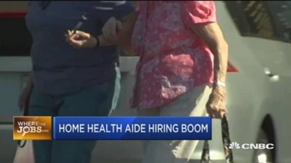 Where the jobs are: Home health care aides