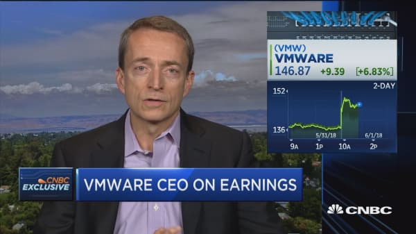 WMware CEO on earnings
