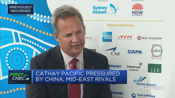 Cathay CEO says a younger fleet helps mitigate fuel price rises
