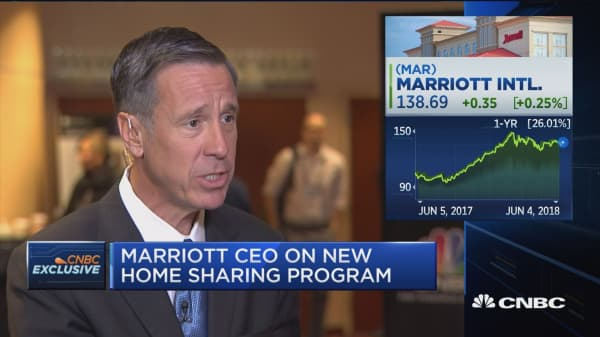 Marriott CEO on new home sharing program