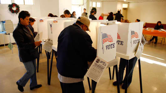 California voters go to the polls.