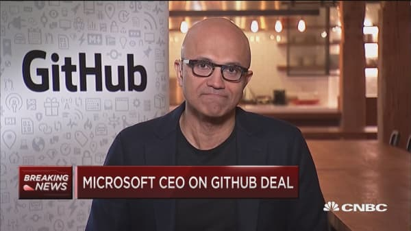 Microsoft CEO on GitHub acquisition