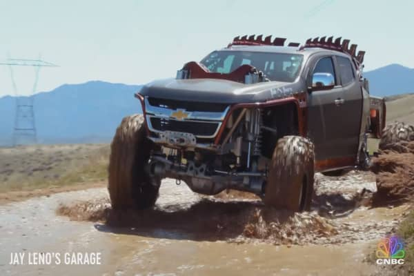 Watch Jay Leno go for a joy-ride in a 5-ton, 180K monster truck