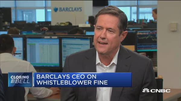 Barclays moving forward after recent 'challenges': CEO Jes Staley