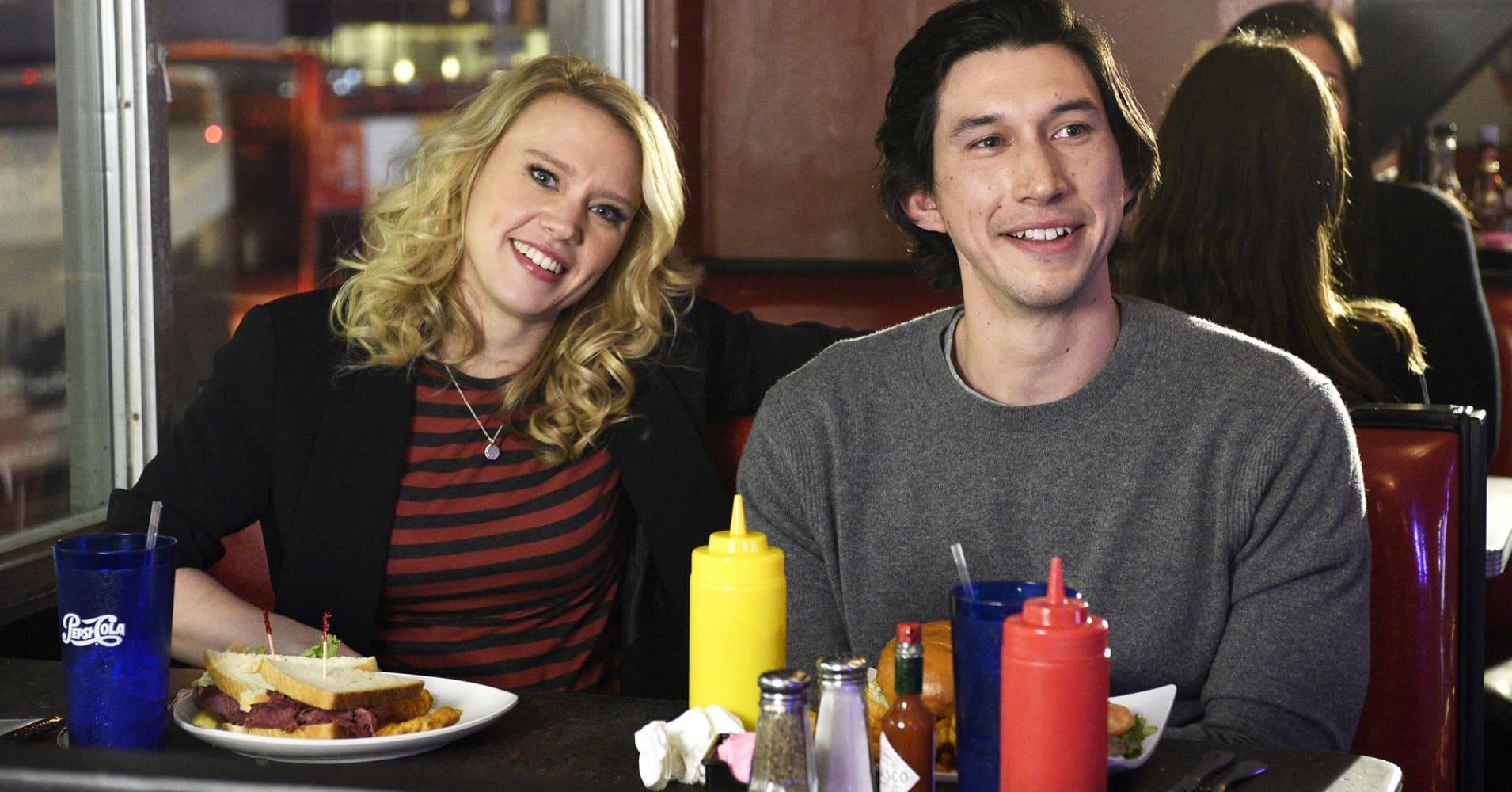 "Kate McKinnon and Adam Driver on ""Saturday Night Live."""