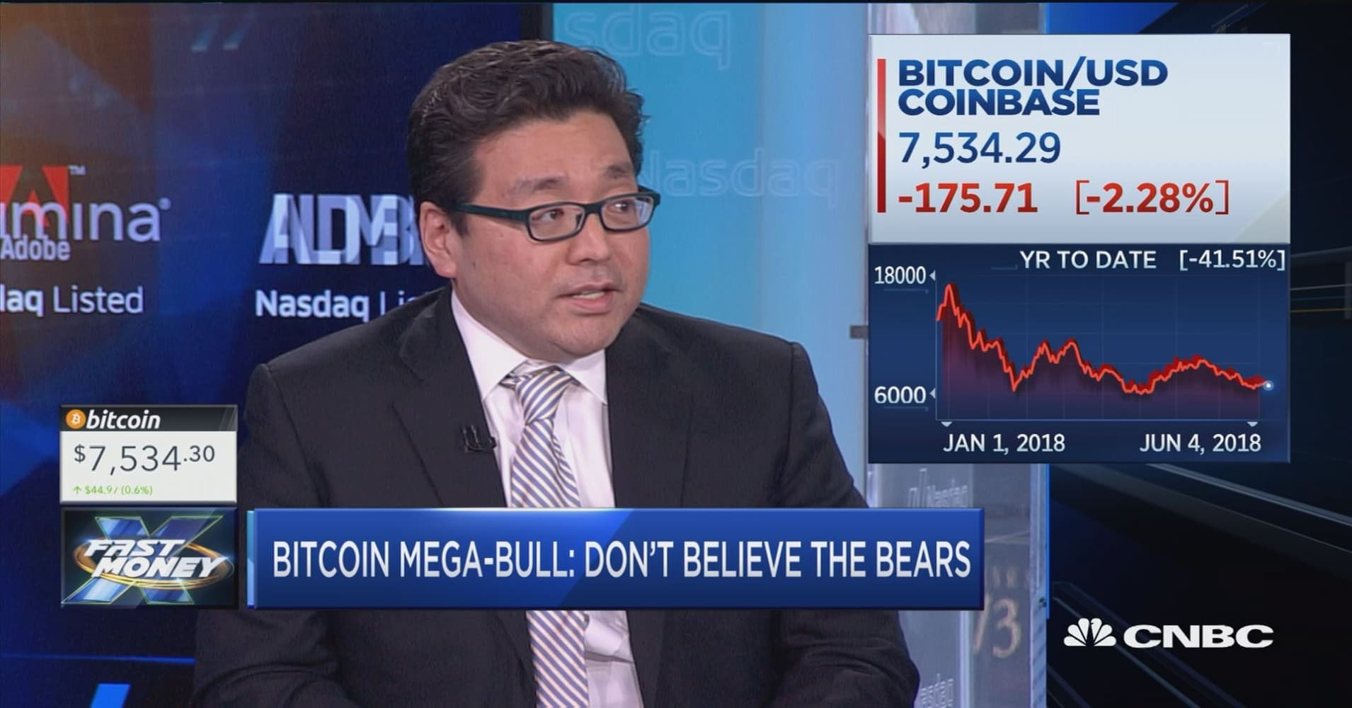 Don't believe the bitcoin bears, says Fundstrat's Tom Lee