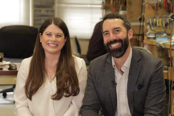 Jason Payne and Lindsay Reinsmith launched Ada Diamonds together after struggling to find a lab-grown diamond engagement ring.