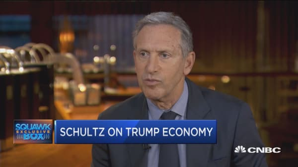 Howard Schultz: We gave almost 50% of our tax benefit to our workers
