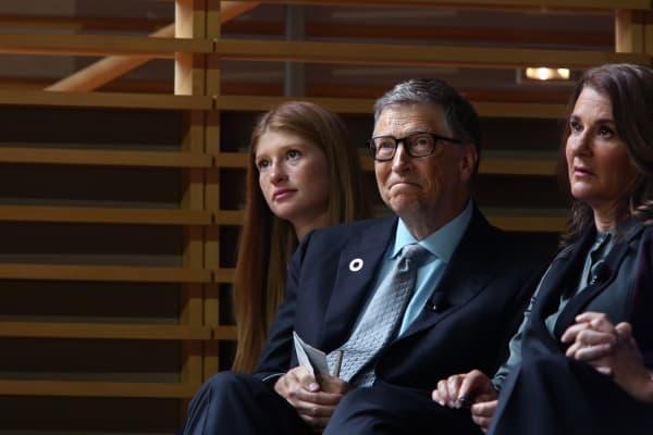 Jennifer, Bill and Melinda Gates