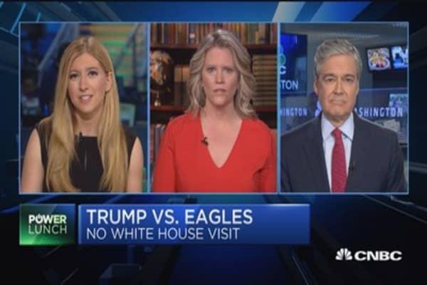 Philadelphia Eagles 'uninvited' to White House