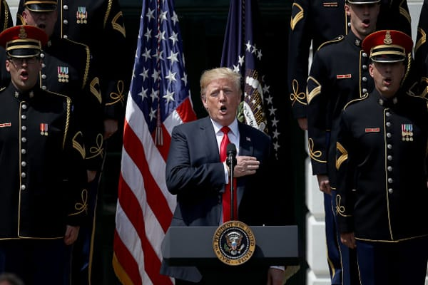 Trump holds 'Celebration of America' event at the White House