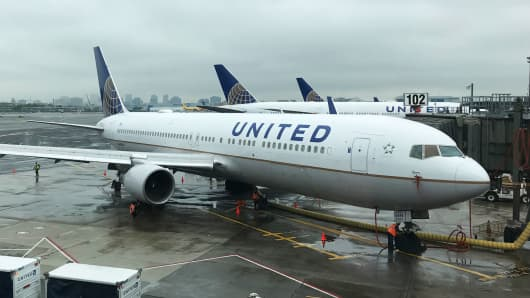 United Airlines planes at Newark Liberty International Airport