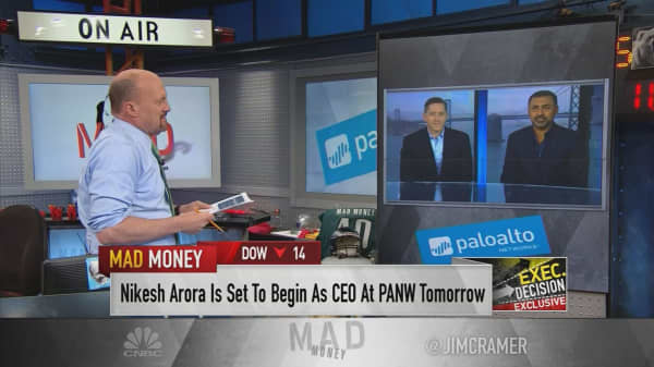 Former SoftBank and Google exec Nikesh Arora talks taking over Palo Alto Networks with outgoing CEO