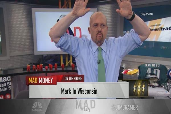Cramer's lightning round: 'I beg you' to hold the stock of Hasbro