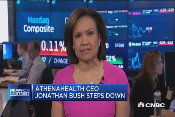 Athenahealth CEO Jonathan Bush steps down