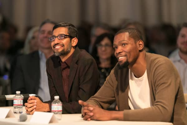 Kevin Durant and Sundar Pichai