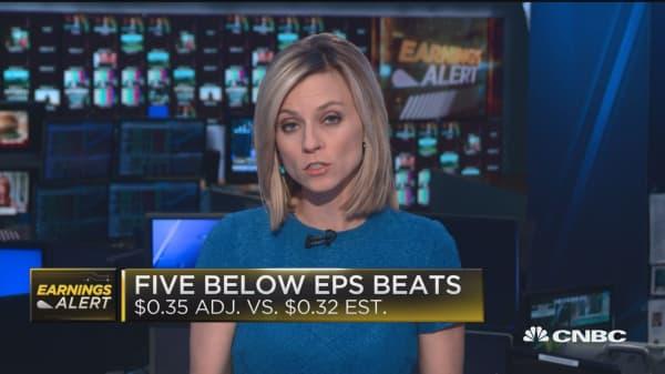 Five Below beats on top and bottom