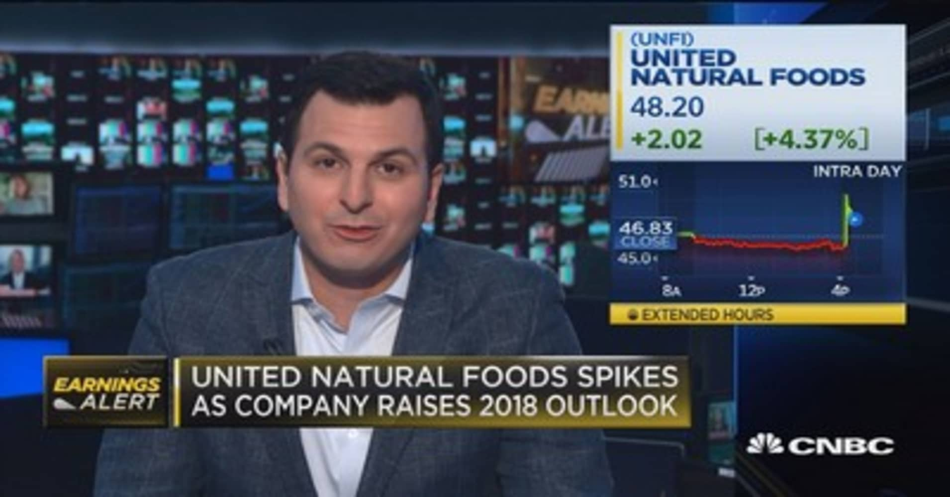 United Natural Foods beats on top and bottom