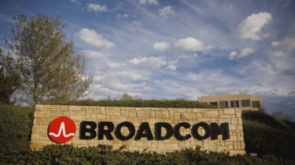Broadcom hasn't participated in the big chip rally, but that may be about to change