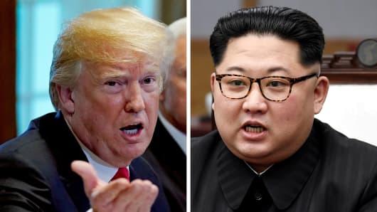 U.S. President Donald Trump and North Korean leader Kim Jong Un.