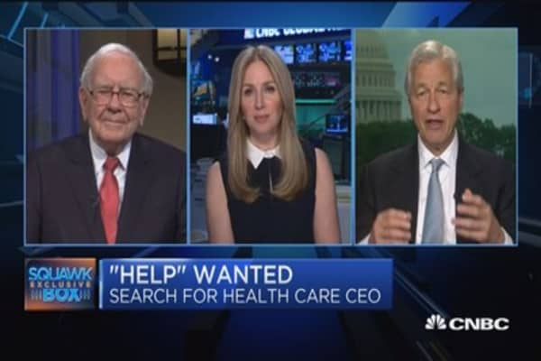 Buffett: CEO in place for our health care initiative