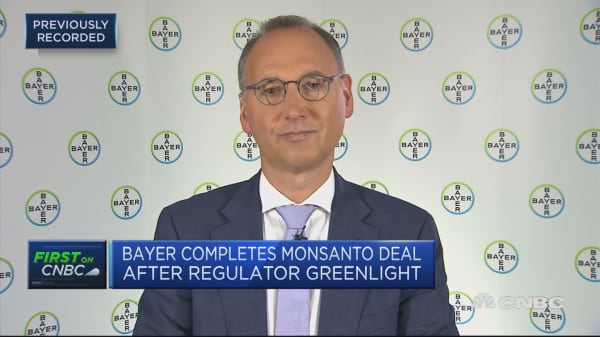 Bayer CEO: Pleased about Monsanto deal green light