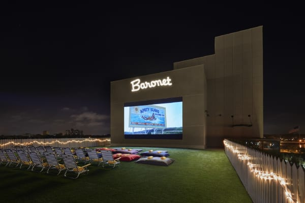 The Baronet at The Asbury Hotel, which offer summer rooftop movies