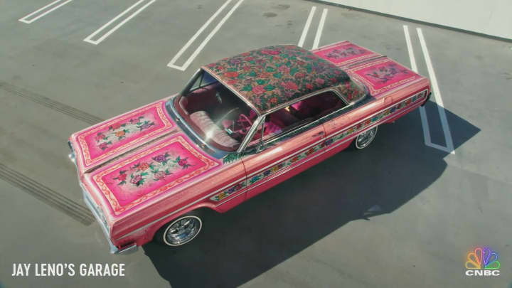 Jay Leno cruises the streets of LA in the world's most famous low-rider