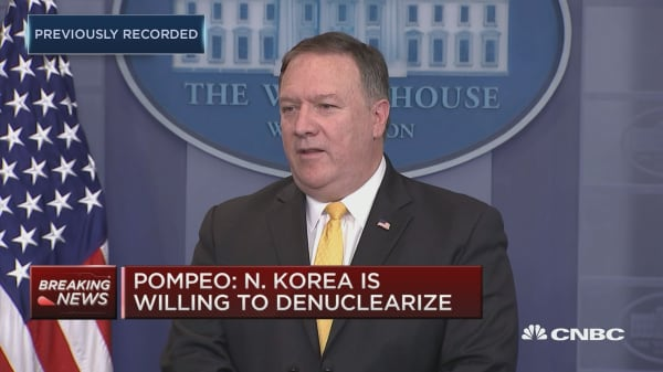 Pompeo: North Korea is willing to denuclearize