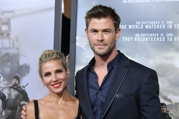 Actors Elsa Pataky and Chris Hemsworth attend the '12 Strong' World Premiere at Jazz at Lincoln Center on January 16, 2018 in New York City.