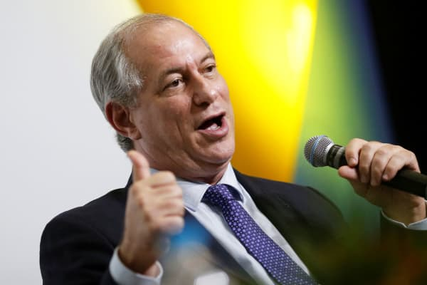 Ciro Gomes, pre-candidate for Brazil's presidency, attends a presidential debate in Brasilia, Brazil June 6, 2018.
