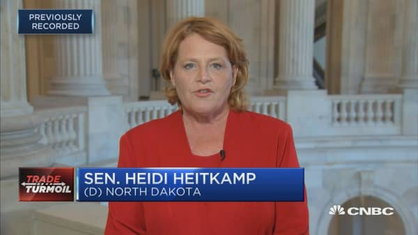 Sen. Heitkamp: Congress should have a role in national security designed tariffs