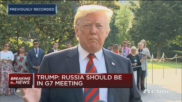 Trump: Russia should be in G-7 meeting