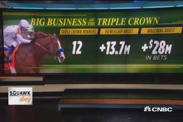 Big business behind the Triple Crown