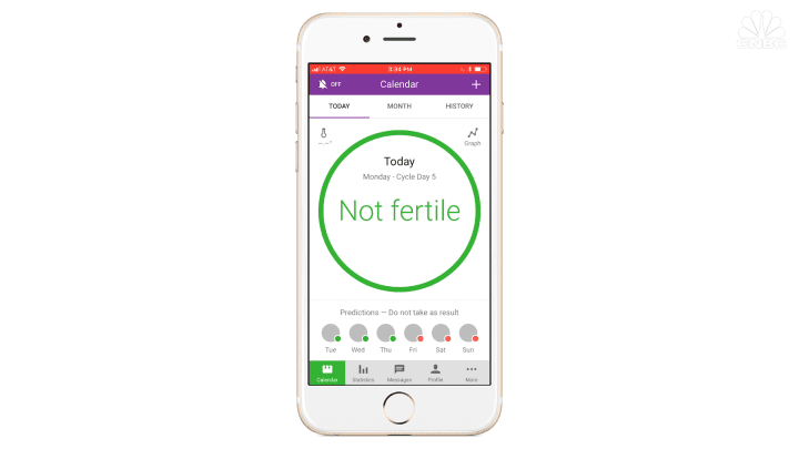 The Natural Cycles app uses an algorithm to predict fertility.