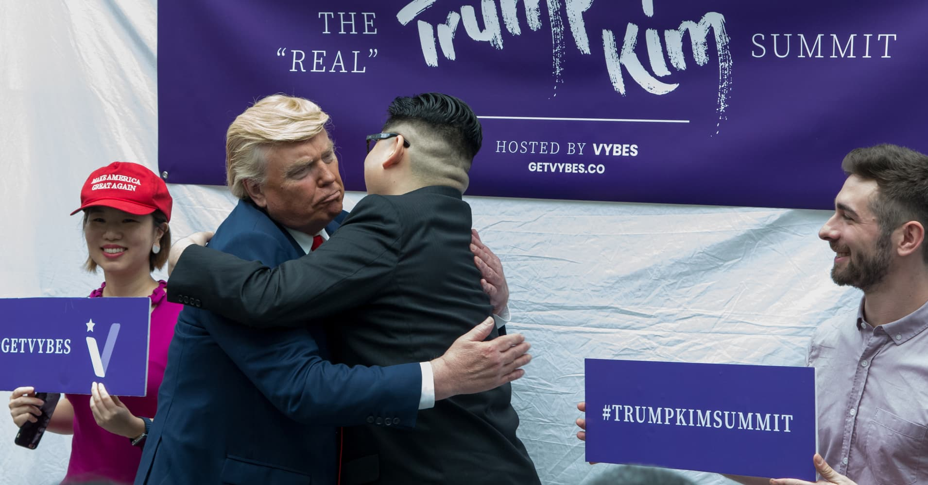 Businesses Capitalize On Trump Kim Summit With Impersonators And More
