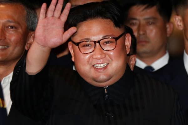 North Korea's leader Kim Jong Un visits The Marina Bay Sands hotel in Singapore, June 11, 2018.