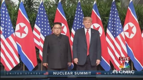 Trump and Kim meet for the first time