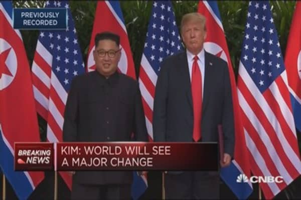Trump: Kim a very talented man, loves his country