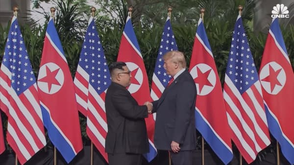 Here are some moments from President Trump's meeting with Kim Jong Un