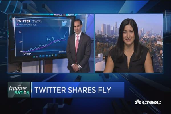 Trading Nation: Twitter shares soar