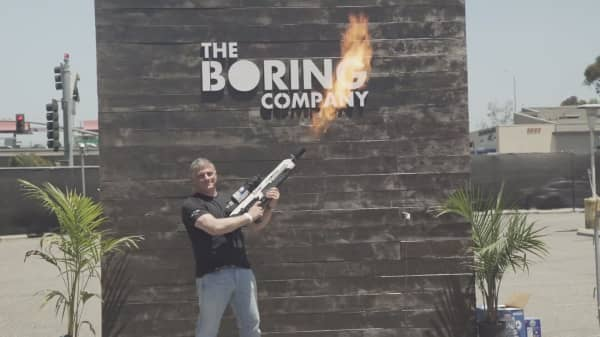 Elon Musk's Boring Company delivered the first of its special-addition flamethrowers