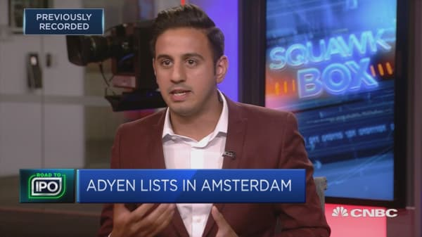 Adyen shares soar after Amsterdam IPO