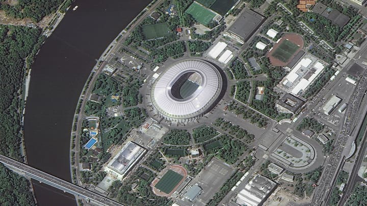 Luzhniki Stadium, which will host matches of the 2018 FIFA World Cup in Moscow, Russia.
