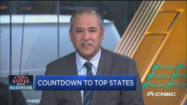 Countdown to Top States for Business