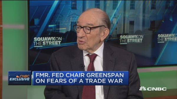 Alan Greenspan: We're on the edge of a trade war