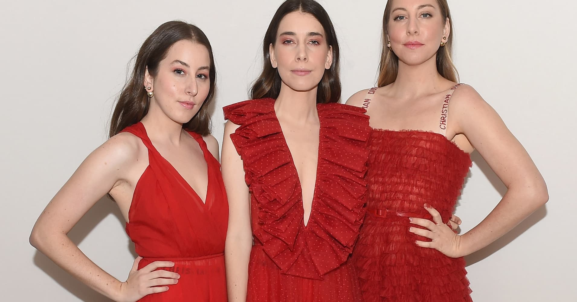 Alana Haim, Danielle Haim and Este Haim attend the 2017 Guggenheim International Gala.