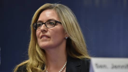 Jennifer Wexton is one of six Democratic candidates taking part in a candidates forum leading up to the June 12 primary in Virginia.